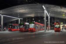 Stanice městské dopravy u hlavního nádraží v Bernu, Švýcarsko