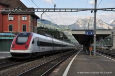 Souprava ICN ve stanici Arth-Goldau, Švýcarsko