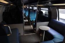 Ilustrační foto: Interiér dvojpodlažní soupravy IC2000 pro dálkovou dopravu švýcarský drah
